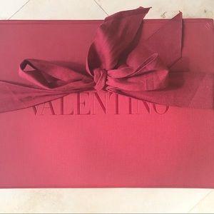 VALENTINO Large flap close gift box with ribbon